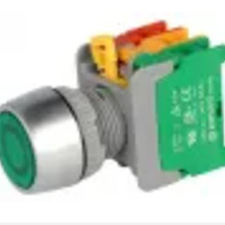 Tryckknapp grön lampa 22mm 2-läge