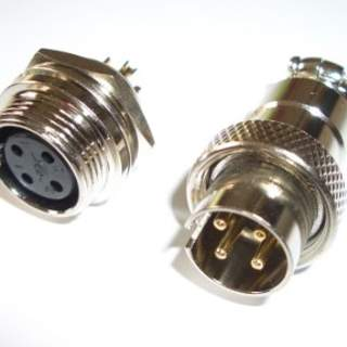 Connector set 4-Pin for panel mount v1 16mm