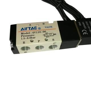 Ventil 5/2 med 50cm kabel, 1/8, Pilot M5