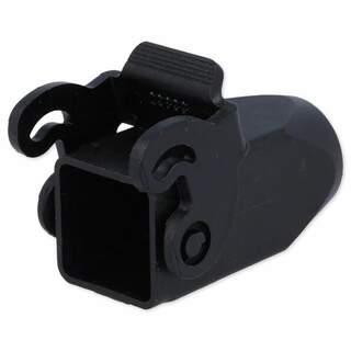 Kåpa för kontaktdon HDC, med klicklås