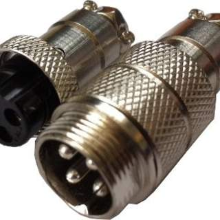 Connector set 4-Pin for Cable-cable 16mm