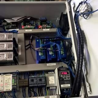 Styrskåp för 12Nm stegmotorer med återkoppling