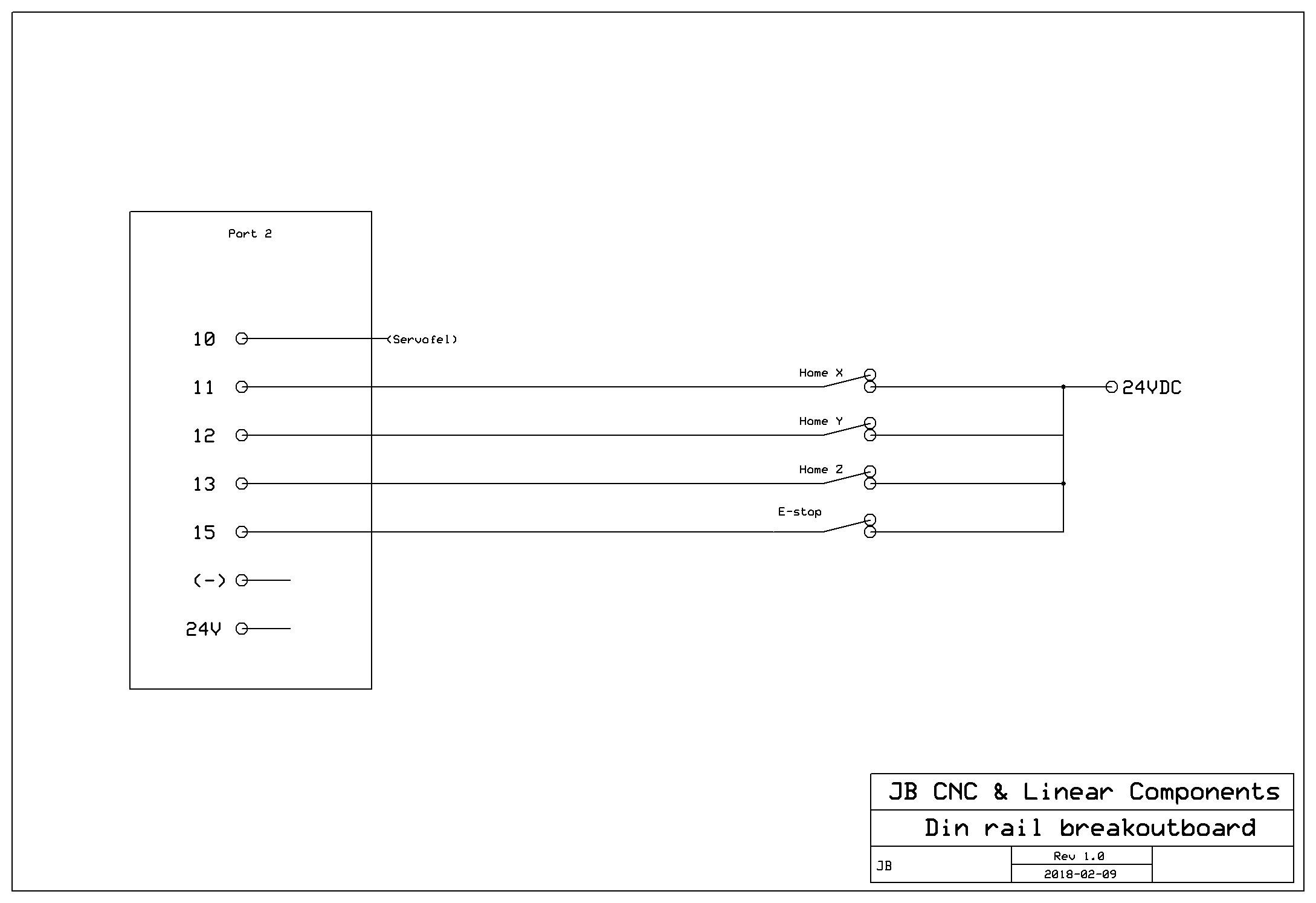 JBCNC I/O-kort Fjäderplint